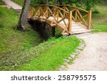 Small Wooden Bridge And Walkin...