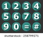 numbers | Shutterstock .eps vector #258799271