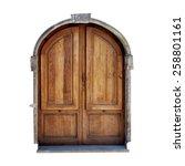 vintage door of small village... | Shutterstock . vector #258801161