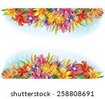 banners of flowers  | Shutterstock .eps vector #258808691