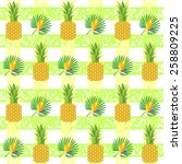 tropical exotic pattern with... | Shutterstock .eps vector #258809225