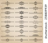 vector set of 27 ornate... | Shutterstock .eps vector #258809939