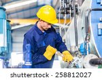 technician in asian factory at... | Shutterstock . vector #258812027