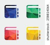 notepad icon abstract triangle... | Shutterstock . vector #258814064