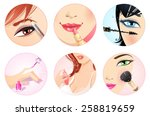 make up icon set. health and... | Shutterstock .eps vector #258819659