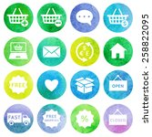 shopping and e commerce... | Shutterstock .eps vector #258822095