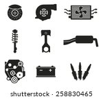 parts from the auto | Shutterstock .eps vector #258830465
