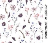 vintage floral seamless... | Shutterstock .eps vector #258831869