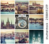 collage of sights and beautiful ... | Shutterstock . vector #258845159