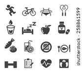 health icon set | Shutterstock .eps vector #258861599