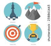 vector illustration set. flat... | Shutterstock .eps vector #258861665