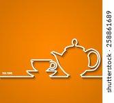 vector illustration of tea time ... | Shutterstock .eps vector #258861689
