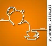 vector illustration of tea time ... | Shutterstock .eps vector #258861695