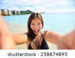 Selfie Fun Woman Taking Pictur...