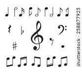 music notes. vector...