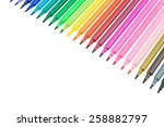 color pen isolated on white... | Shutterstock . vector #258882797