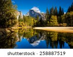 half dome mountain in yosemite... | Shutterstock . vector #258887519