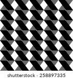 black and white geometric...   Shutterstock .eps vector #258897335