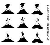 vector active erupting volcano... | Shutterstock .eps vector #258898445