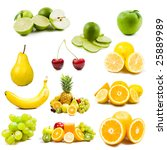 lot of fresh fruits isolated... | Shutterstock . vector #25889989