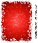 bright red winter background... | Shutterstock . vector #258902669
