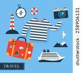 tourism concept image sea... | Shutterstock .eps vector #258906131