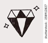 diamond doodle drawing | Shutterstock . vector #258912827