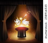 magic trick poster with... | Shutterstock .eps vector #258916535
