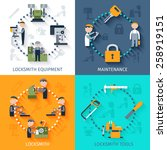 locksmith design concept with... | Shutterstock .eps vector #258919151