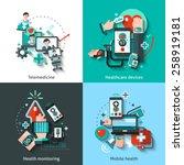 digital medicine design concept ... | Shutterstock .eps vector #258919181