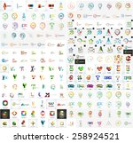logo mega collection  abstract... | Shutterstock .eps vector #258924521