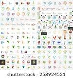 logo mega collection  abstract... | Shutterstock .eps vector #258924521