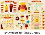set of beer infographic... | Shutterstock .eps vector #258927899