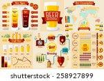 set of beer infographic... | Shutterstock .eps vector #258927899
