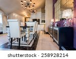 illuminated dining room... | Shutterstock . vector #258928214