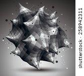 spatial vector monochrome... | Shutterstock .eps vector #258942311