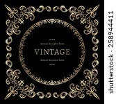 vintage gold background ... | Shutterstock .eps vector #258944411