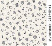 light seamless medical pattern. ... | Shutterstock .eps vector #258945461