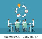 people business meeting... | Shutterstock .eps vector #258948047