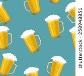 seamless background tankards... | Shutterstock .eps vector #258948851