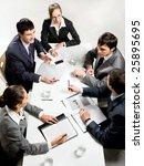 team of five business people... | Shutterstock . vector #25895695