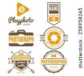set of logo  emblem  print ... | Shutterstock .eps vector #258958265