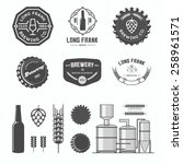 vector labels of brewing. | Shutterstock .eps vector #258961571