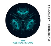 abstract  low poly  hud ... | Shutterstock .eps vector #258964481