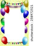 birthday background | Shutterstock .eps vector #258972521