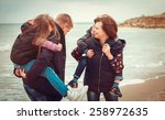 closeup of happy family at the... | Shutterstock . vector #258972635