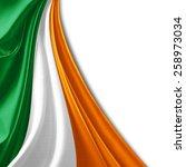 Ireland Flag And White...