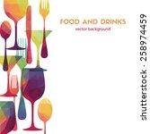 food and drinks. vector... | Shutterstock .eps vector #258974459