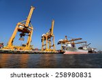 bangkok  february 26 2015  port ... | Shutterstock . vector #258980831