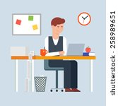 workday and workplace concept.... | Shutterstock .eps vector #258989651